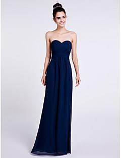 2017 לנטינג bride® שמלת השושבינה שיפון באורך הרצפה - נדן / מתוקה עמודה