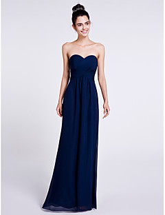 2017 Lanting bride® podlahy Délka šifónové družička šaty - plášť / sloupec srdíčko