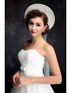 Women's Lace Pearl Tulle Flax Headpiece-Wedding Hats 1 Piece