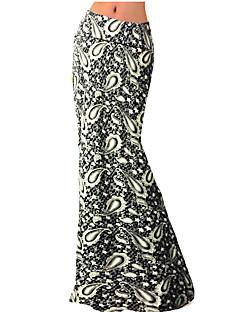 Bayanlar Büyük Beden / Vintage Maksi Polyester / Splandeks Streç Bayanlar Etekler