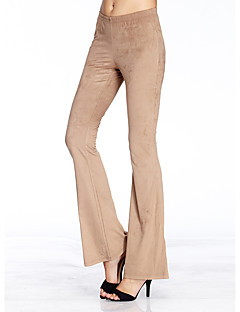 HEARTSOUL Women's Solid Brown Bootcut Pants,Simple