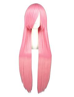Pelucas de Cosplay Kuroko no Basket Amu Hinamori Rosa Largo Animé Pelucas de Cosplay 100 CM Fibra resistente al calor Hombre / Mujer