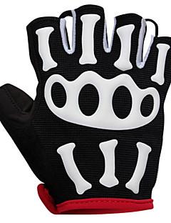Gloves Bike Breathable / Wearable / 3D Pad / Anti-skidding/Non-Skid/Antiskid Women's / Men's / Unisex Red / Black LYCRA®