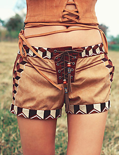 Aporia.As® Dames Medium taille Shorts Kahki Vrijetijdsschoenen Broek-MZ11050