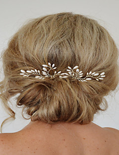 Set of 2 Women's exqusite Hair Stick Pin for Wedding Party Hair Jewelry with Pearl Crytsal