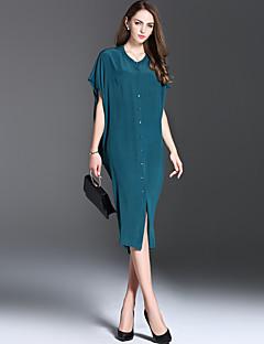 es Dannuo dameskleding stijl patroon silhouet jurk, hals jurk lengte stof