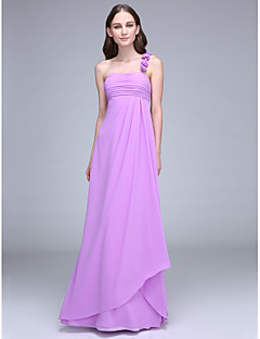 2017 Lanting Bride® Ankle-length Chiffon Bridesmaid Dress - One Shoulder with Draping