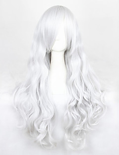 Cosplay Wigs Angel Sanctuary Rosiel Silver Long Anime Cosplay Wigs 90 CM Heat Resistant Fiber Male / Female