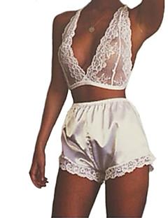 Women Lace Lingerie / Suits Nightwear,Chiffon / Lace