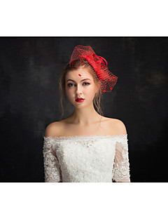 Women's Lace / Tulle / Flax / Net Headpiece-Special Occasion Fascinators 1 Piece Clear