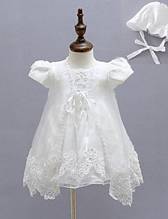 Baby Party/Cocktail Dress Blomstret Polyester Alle årstider Hvit
