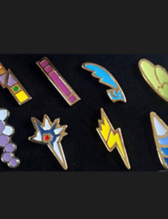 Jewelry / Badge Inspired by Pocket Monster Ash Ketchum Anime Cosplay Accessories Badge / Brooch Golden Metal Male / Female