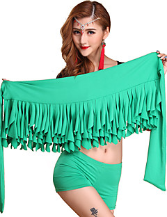 Belly Dance Bottoms Women's Performance Cotton Pleated 1 Piece Sleeveless Dropped Hip Scarf 40cm
