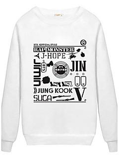 Men's Letter Sport Hoodie & Sweatshirt,Cotton Long Sleeve Black / White