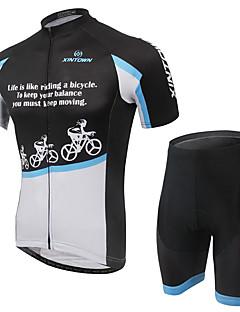 싸이클 반바지 져지 남성의 짧은 소매 자전거 통기성 빠른 드라이 편안함 의류 세트/수트 테릴렌 망사 LYCRA® 클래식 패션 봄 여름 가을 사이클링/자전거