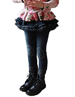 Girl's Cotton Spring/Autumn Fashion Lace Bubble Pantskirt Children Skinny Jeans