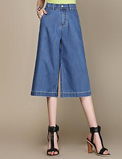 Women's Solid Blue Jeans / Wide Leg Pants,Simple / Street chic