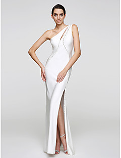 2017 ts couture® formal de trompeta vestido de noche / sirena de un piso-longitud camiseta con botones