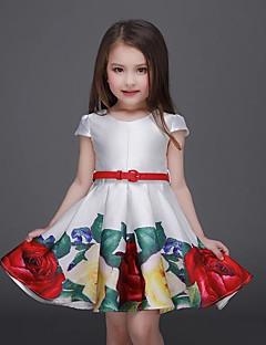Mädchen Kleid-Lässig/Alltäglich Blumen Baumwolle Sommer Weiß
