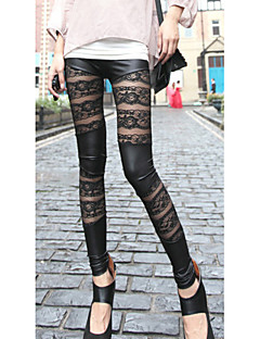 Women Stitching Lace Legging,Others