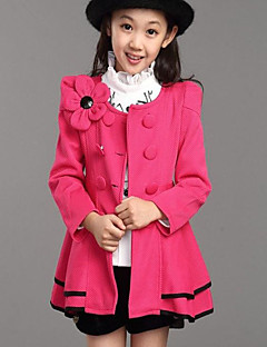 Girl's Casual/Daily Solid Suit & Blazer,Cotton Winter / Fall Pink / Red