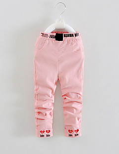 FanXingBeiYiGirl's Casual/Daily Embroidered Pants / Jeans,Cotton / Others Spring / Fall Pink / Purple / White