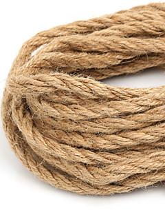 beadia 6 milímetros cabo de juta do cânhamo natural para a tomada de artesanato de jóias DIY (5mts)