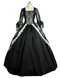 One-Piece/Dress Gothic Lolita Steampunk® Victorian Cosplay Lolita Dress Print Long Sleeve Long Length Dress For Satin Lace Linen