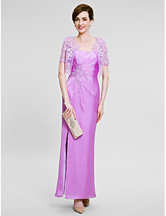 Women's Wrap Shrugs Short Sleeve Chiffon Lilac Wedding / Party/Evening Wide collar 39cm Lace Open Front