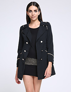 Women's Double Breasted Lapel Slim Trench Coat (More Colors)