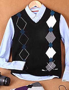 Men's Print Casual Vest,Cotton Sleeveless Black / Purple / White / Gray