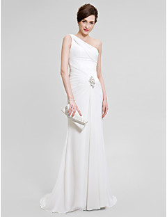 2017 Lanting Bride® Trumpet / Mermaid Mother of the Bride Dress Sweep / Brush Train Sleeveless