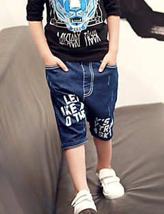 Boy's Casual/Daily Print Shorts,Cotton Summer Blue