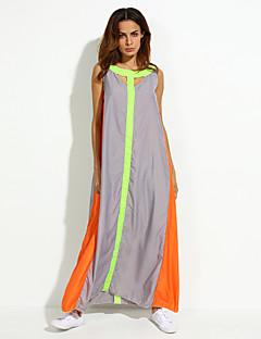 Vestidos(Chiffon)MULHERES-Casual / PestaRedondo-Sem Mangas