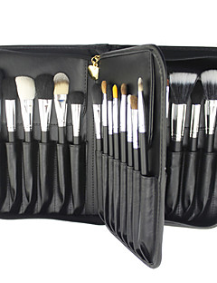 29 Makeup Brushes Set Mink Hair Professional / Full Coverage / Portable Wood Face / Eye / Lip With Cosmetic Bag