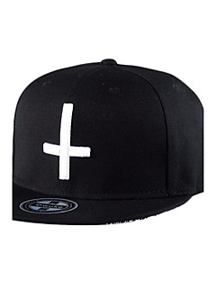 Unisex Fashion Hip Hop Cross Embroidery Baseball Caps Street Dance Caps