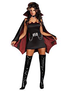 תחפושות קוספליי תחפושת למסיבה מלאך ושטן זומבי ערפדים פסטיבל/חג תחפושות ליל כל הקדושים שחור אדום יין וינטאג' שמלה צעיף חגורההאלווין (ליל