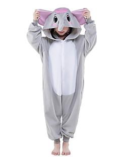 Kigurumi Pyjamas New Cosplay® Elefant Trikot/Heldragtskostumer Festival/Højtider Nattøj Med Dyr Halloween Grå Ensfarvet Polarfleece
