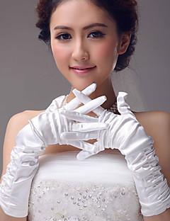 Operalengte Vingertoppen Handschoen Polyester Bruidshandschoenen Feest/uitgaanshandschoenen Lente Herfst Winter Geplooid