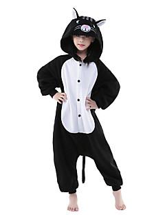 Kigurumi Pizsamák új Cosplay® / Cat Akrobatatrikó/Egyrészes Fesztivál/ünnepek Allati Hálóruházat Mindszentek napja Fekete/fehér Egyszínű