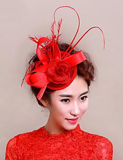 Women's Feather / Net Headpiece-Wedding / Special Occasion Fascinators 1 Piece Wedding Hats
