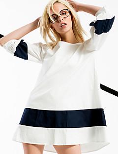 ARNE® Kadın Yuvarlak Yaka 1/2 Kol Uzunluğu Diz Üstü Elbiseler-6219