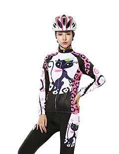 BATFOX® Cycling Jersey with Tights Women's Long Sleeve BikeBreathable / Thermal / Warm / Windproof / Fleece Lining / Sweat-wicking / YKK