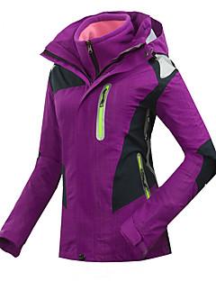 GQY® スキーウェア スキー/スノーボードジャケット 女性用 冬物ウェア ポリエステル パッチワーク 冬物ウェア 保温 / 防風 / 耐久性 キャンピング&ハイキング / スノースポーツ / ダウンヒル / スノーボード 冬