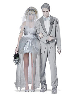 Couple Costumes Ghost / Zombie / Vampires Halloween / Christmas / Carnival Silver / White