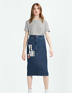 Kvinders Street Midi Nederdele Mikroelastisk Polyester