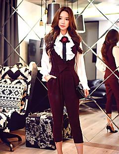 dabuwawa kvinders solide slanke bukser, vintage / gade chic / sofistikerede