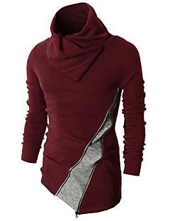 Masculino Padrão Pulôver,Casual Simples Estampa Colorida Vermelho Preto Gola Alta Manga Longa Pêlo de Coelho Primavera Outono Média