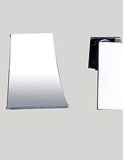 Moderne Vægmonteret Foss with  Keramisk Ventil Enkelt håndtak To Huller for  Krom , Baderom Sink Tappekran