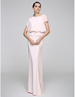 2017 ts couture® prom avondjurk schede / column juweel vloer-length chiffon met knopen